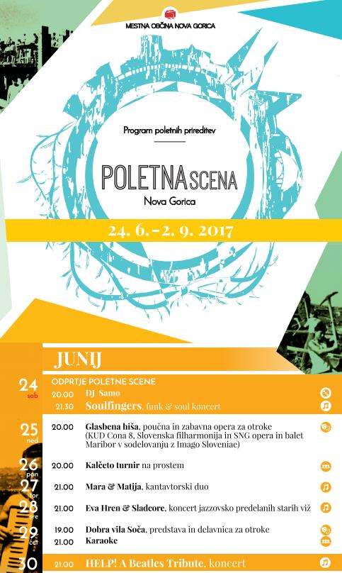 Poletna scena v Novi Gorici - 24.6. - 2.9.2017